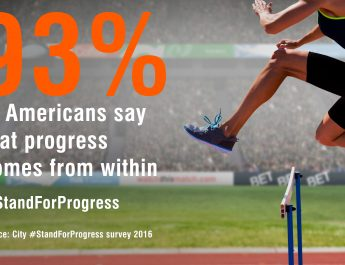 AMERICANS UPBEAT ON MAKING PROGRESS IN THEIR LIVES