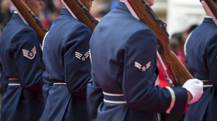 United States Air Force Airmen During Veterans Day Parade