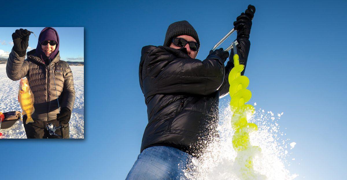 Hard water fishing, ice fishing