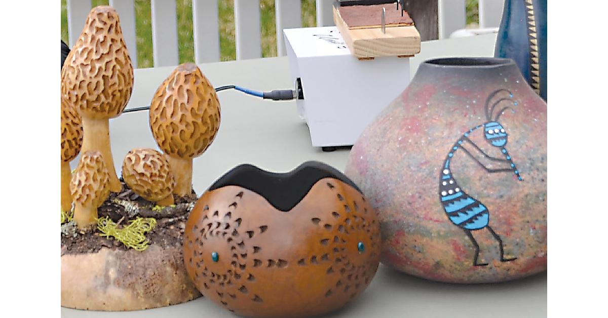 Gourds of artist Carol Joyce, Photo by Dianna Troyer
