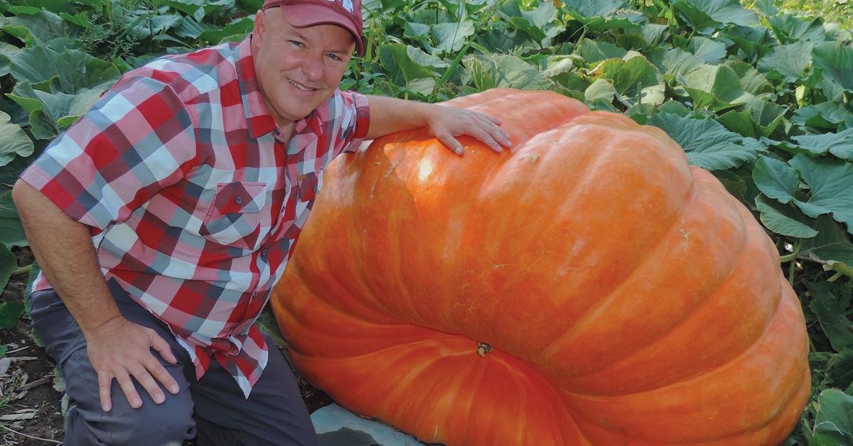 Cliff Warren, grower of giant pumpkins