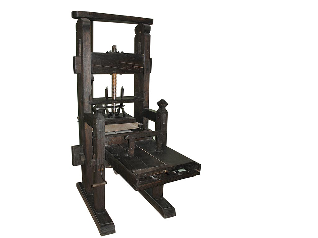 Civilizing the West with Printing Presses