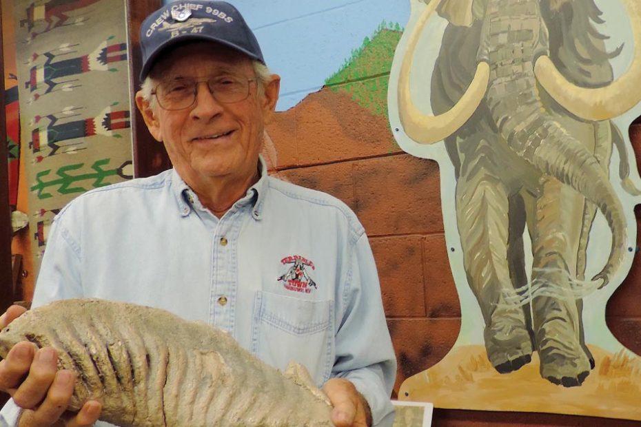 Ray Stockton, 47-years volunteering at the Minidoka County Historical Society Museum in near Rupert, Idaho.