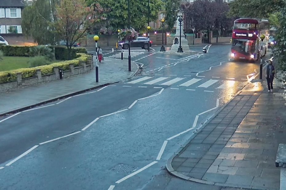 video cam shot of Abbey Road