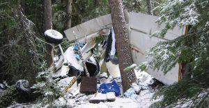 Photo of plane wreck