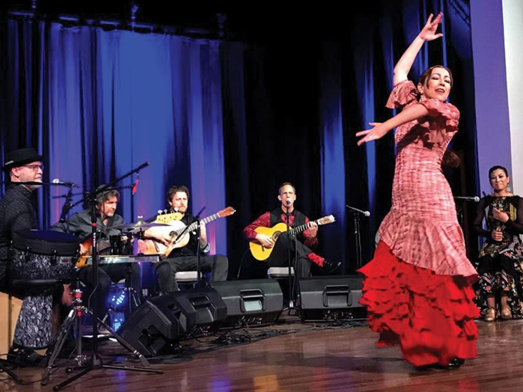 Photo of Flamenco Pacifico program, hosted by the Pend Oreille Arts Council.